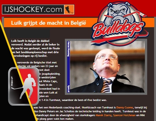 Luik grijpt de macht in België (IJshockey.com)