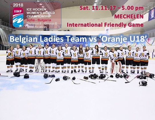 Algemene repetitie voor Belgisch Damesteam tegen Oranje U18!