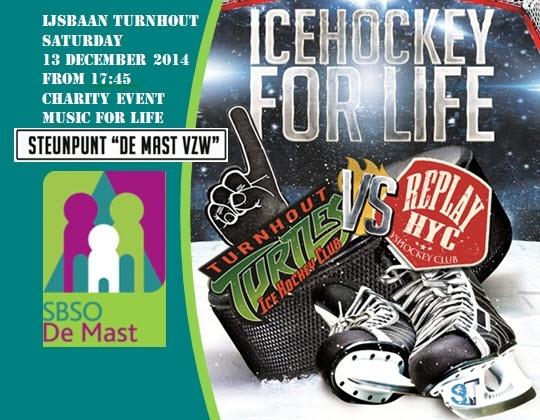 Benefiet Ijshockey Wedstrijd Turnhout Turtles vs HYC Future Stars
