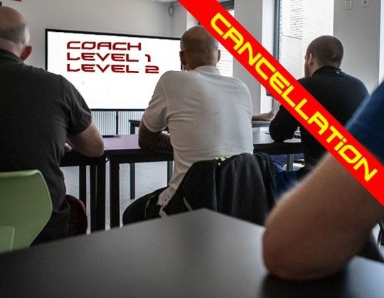 Coach opleiding L1 en L2 geannuleerd , LTP gaat gewoon door.