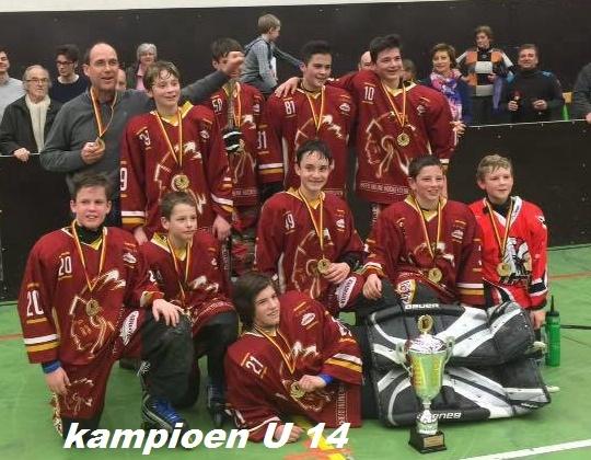 Kampioenen U 14 Inline Hockey zijn al gekend