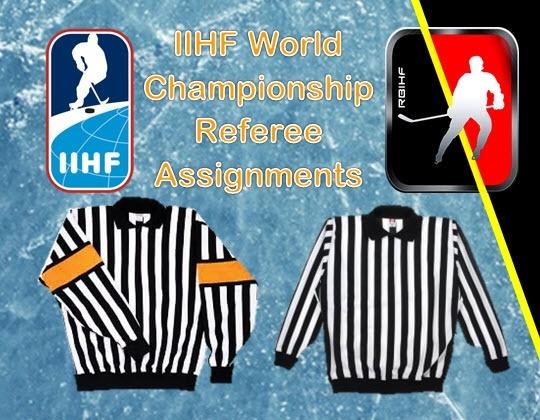 IIHF World Championship Referee assignments