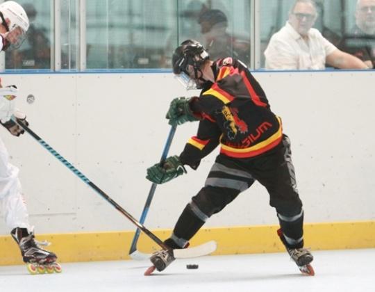 Nationaal team in-line hockey op Kwalificatie tornooi in Oostenrijk.