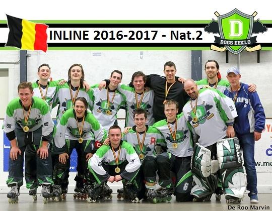 DOGS EEKLO - inline kampioen 2016-2017 - Nationaal 2