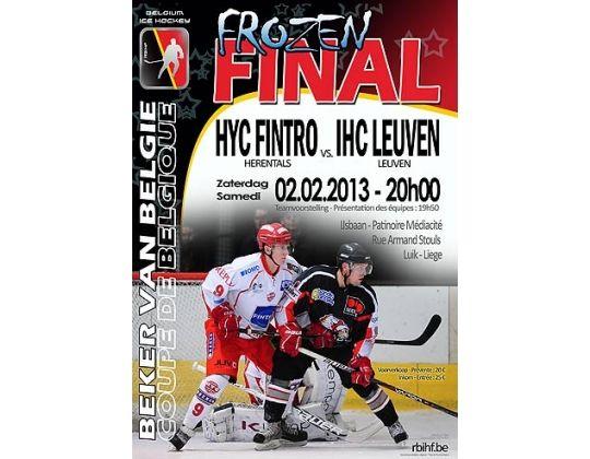 IJshockey Finale in Luik op 2 februari 2013