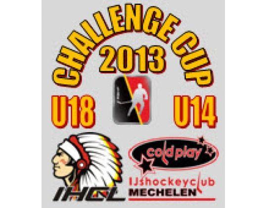 Challenge Cup 2013: titel voor Cold Play Leest bij de U14 en voor IHC Leuven bij de U18