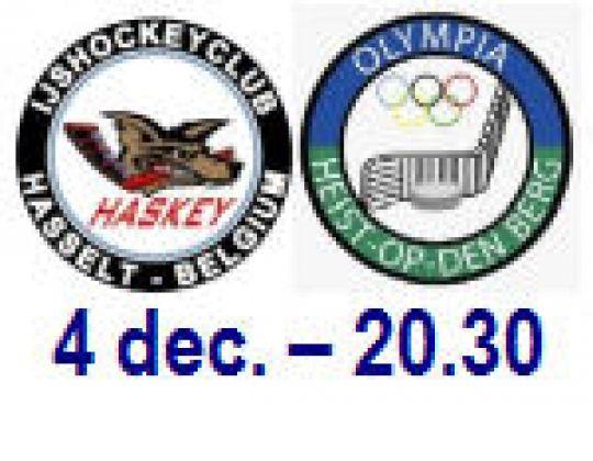 Zaterdag 4 december, 20.30: Galawedstrijd in Hasselt