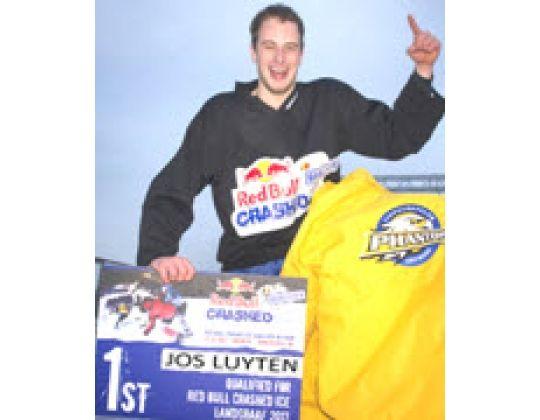 Red Bull Crashed Ice kwalificatiestrijd: Joris Luyten (Phantoms) kaap 1st plaats weg.