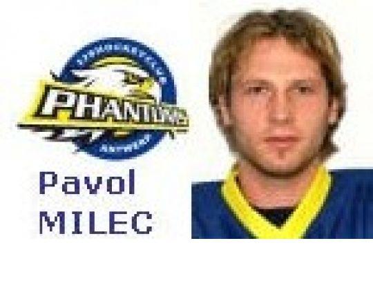 PAVOL MILEC (Antwerp Phantoms), voorlopig Topscorer in KvB (ELITE)