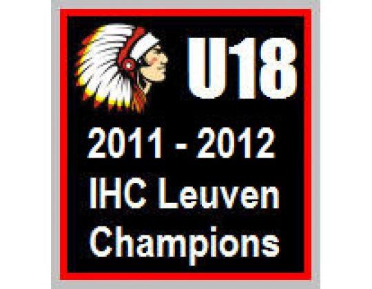 IHC LEUVEN U18 KAMPIOEN VAN BELGIË