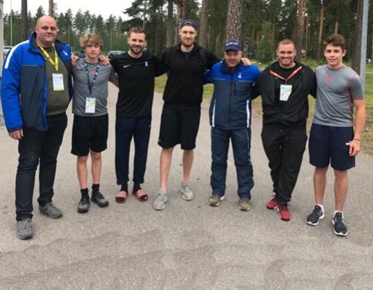 Belgische delegatie op IIHF Development stage in Vierumaki Finland.