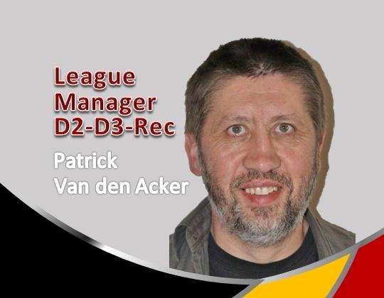 League Manager D2-D3-Rec aangesteld!