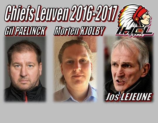 IHCL 2016-17, coaches voor de Chiefs en de beloften