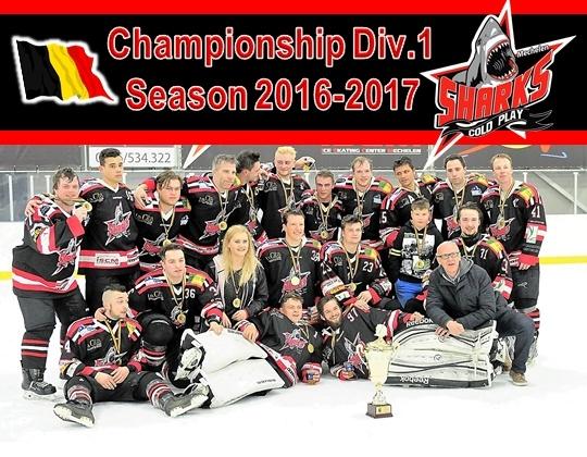 Cold Play Sharks, Kampioen in Divisie 1!