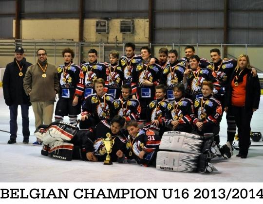 Chiefs Leuven Belgian Champion U16 - 2013/2014