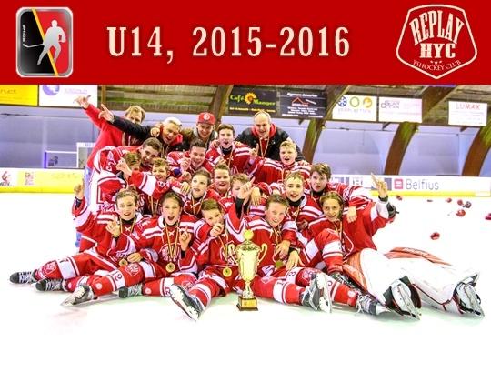 Herentals HYC Red wint het Kampioenschap 2015/16 U 14!