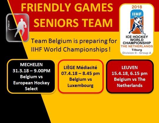 3 WK Oefenwedstrijden voor Team Belgium