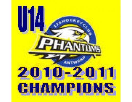 U14: Antwerp Phantoms Kampioen 2010-2011